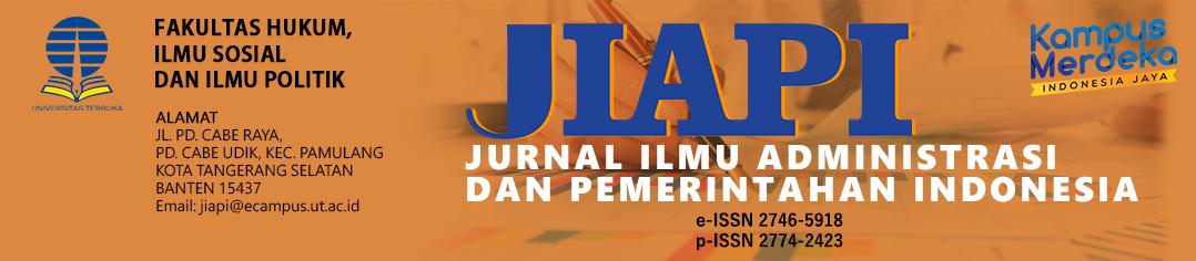 Jurnal Ilmu Administrasi dan Pemerintahan Indonesia